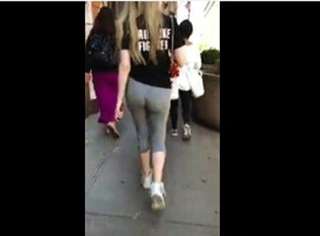 【街撮り】これはエロいムッチリしたレギンスのお尻の大きいお姉さん!