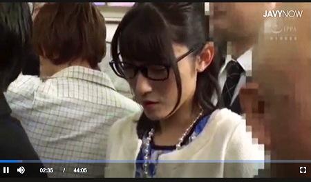 【個人撮影】痴漢・森沢かな。メガネの真面目そうな女が痴漢されます!