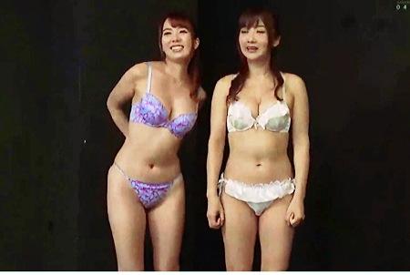 【個人撮影】おしっこ・大槻ひびき 波多野結衣。おしっこ競技で真剣対決をします!
