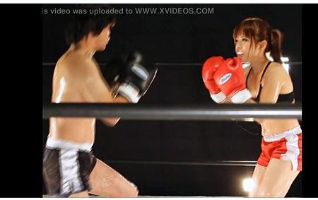 【個人撮影】リョナ・これはやばい女子ボクサーと男が対決!
