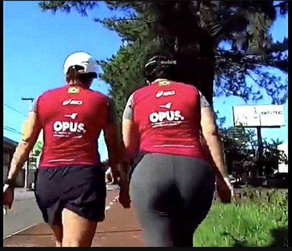 big booty mature in spandex walking