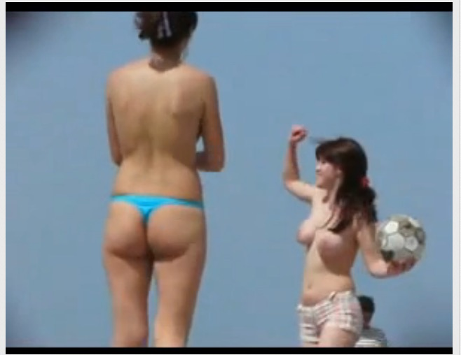 [盗撮]スポーツ窃視Beach!ビーチバレーはトップレスだったら?水着盗撮動画です!
