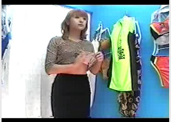 【着替え】関西のヒョウ柄のセクシー巨乳ギャルが下着を試着しています!