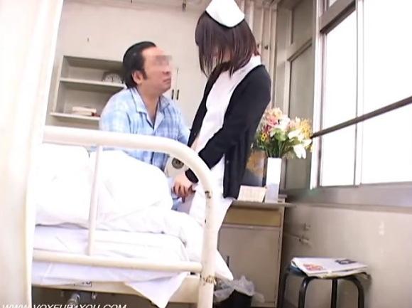 【病院】心の優しい看護婦!強く出られると断れませんフェラチオを!