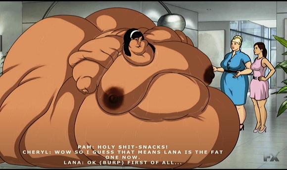 体重増加BBWお姉さんのコミック。ブロブはまだ成長している。他。