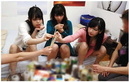 【王様ゲーム】新人の女子大生を捕獲してヤリ部屋で王様ゲーム大会!