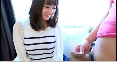【センズリ鑑賞】清楚な姉ちゃんは恥ずかしくオナニーサポート!!