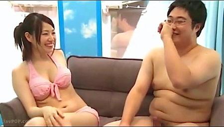 【マジックミラー号】キモデブすぎる!デカパイの美人お姉さんが童貞ファック!松本ほのか