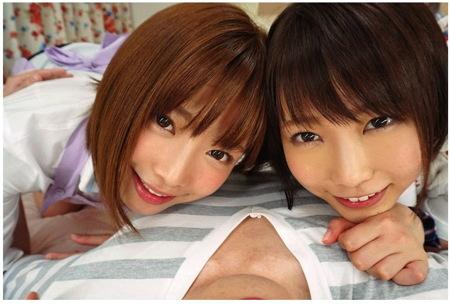 【紗倉まな】二人が妹!可愛い美少女がWフェラチオ!戸田真琴