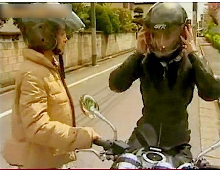 【ヘンリー塚本】黒のレザースーツのレズビアン!アクメバイクで女狩り!
