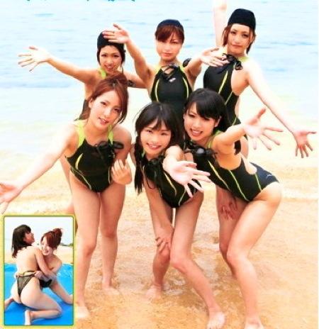 【ハーレム】女子校生水泳部!ハレンチ夏合宿でローション女相撲!