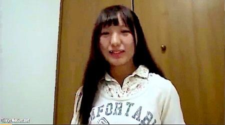 【個人撮影】黒髪ロング美少女!可愛い美少女ロリータが緊張しながら初撮りAVファック!