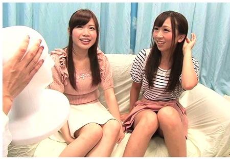 【マジックミラー号】レズナンパ!仲の良い女子大生ふたりを捕獲してエッチ!