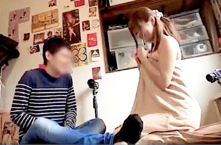 【個人撮影】「やばっ!イクイク!」緊張気味の男性の部屋でファック!
