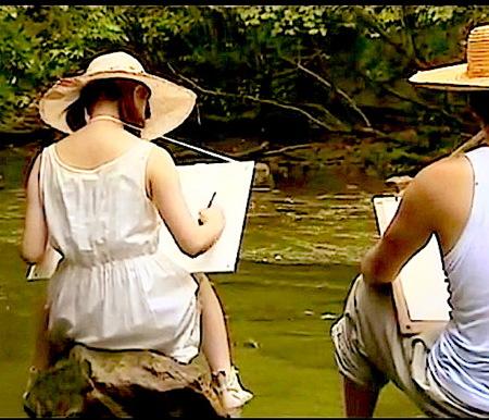 【ヘンリー塚本】仲の良い兄と妹が川にスケッチ!近親相姦青姦をする!平原あいみ