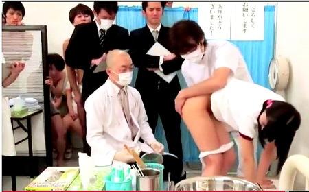 【jk】新入生発育健康診断!みんなの前で肛門検査!