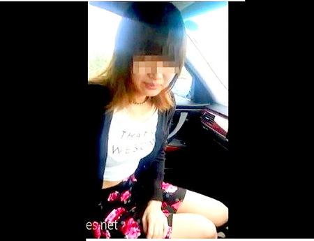 【個人撮影】女子大生は19歳!可愛い美少女に車でフェラチオ!