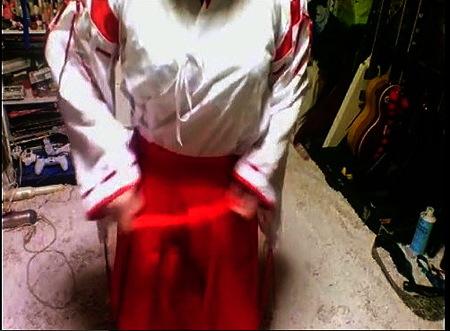 【個人撮影】JK巫女!電気マッサージ器でオナニーする!