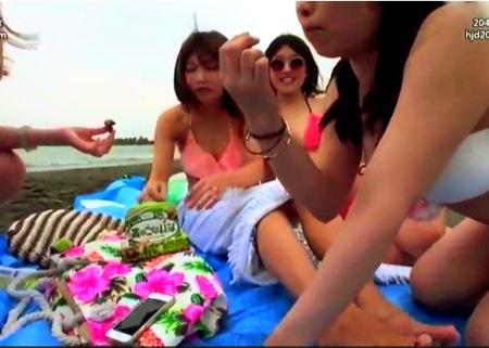 【素人ナンパ】巨乳ギャル限定!海水浴のギャルを捕獲して複数ファック!