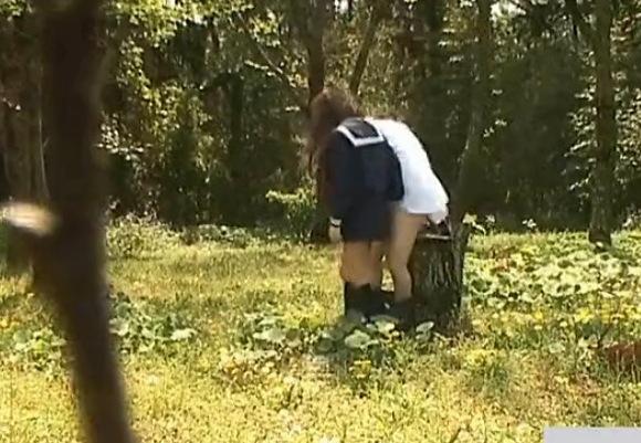 盗撮無料エロハメ撮り動画。盗撮里山の草原で学生が立ちマンコ!公園盗撮動画です!