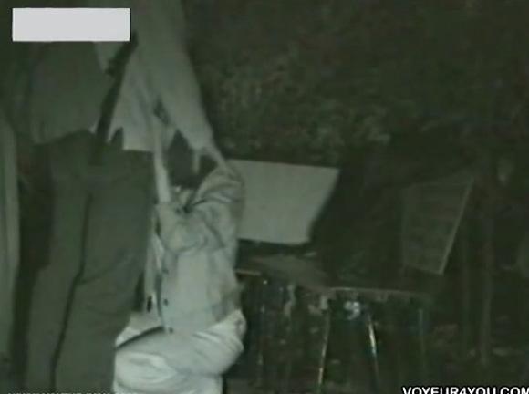 カップルの盗撮無料hamedori動画。盗撮熱愛カップルがベンチで深夜フェラチオ!公園盗撮動画です!