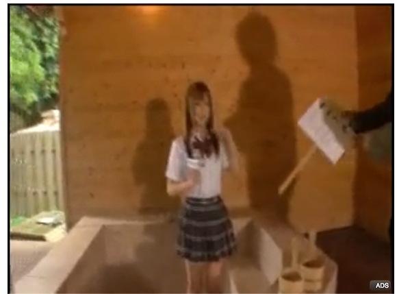 [盗撮]成瀬心美(ここみ)さんは露天風呂でリポートです!露出盗撮動画です。