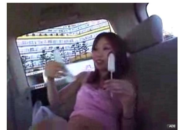 [盗撮]セクシーお姉さんは車の中でアイスを食う!カーセックス盗撮動画です。