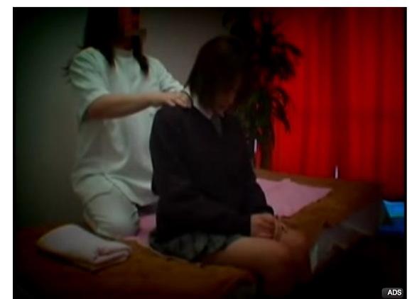 [盗撮]肩のこった制服娘!エステシャンは淫乱!マッサージ盗撮動画です。