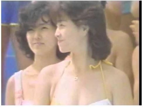[盗撮奥さん]柏原芳恵:アイドル水泳大会の水着です!セクシーアイドルのお宝動画です!