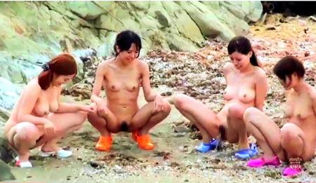 【スカトロ】放尿海岸!みんなでなかよく野良ションしよう!