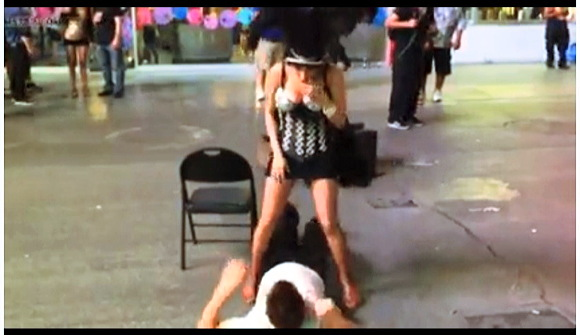 Famous video - Dancer's accidental pissing
