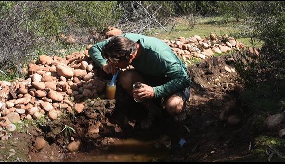『ライフストローはどれくらい効果があるのか?泥だらけの水たまりをライフストローで飲んで見た』How effective is the Lifestraw?... Lifestraw vs. muddy puddle