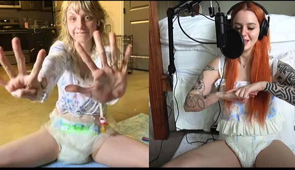 diapered girls+Paigey+Blair