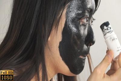 ドーラン黒塗り娘 1