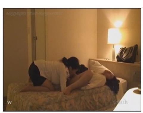 [盗撮]場末のラブホテルを盗撮していたらレズビアンのカップルが入ってきた!巨乳レズビアン動画です。