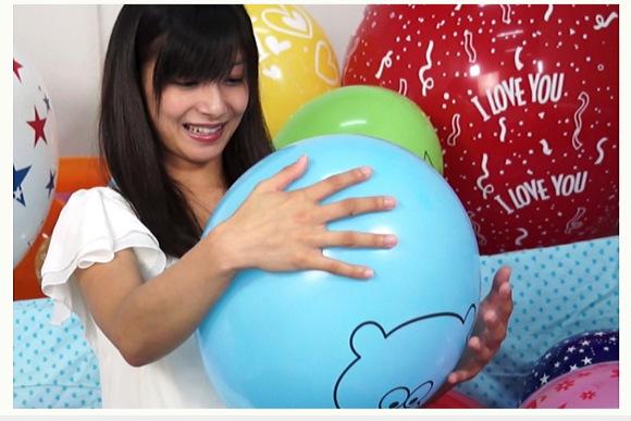 [盗撮]平清香さんは小さい頃から風船大好き!風船フェチ動画です。