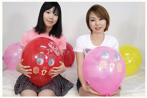 【風船】わかばさんとみさとさんは風船でオナニーするのが好きなレズビアン美少女!