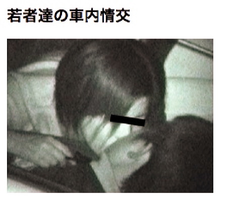 【カーセックス】闇夜の車中!ドスケベなカップルがファックをしていた!カーセックス動画です!