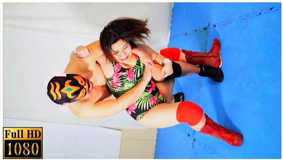 【女子プロレス+星野桃子+MIXプロレス+リョナ+拷問】プロレス技を耐える女12!豊満な女子プロレスターがマスクマンに一方的にリンチ状態です【ABV+残酷表現+暴力的】