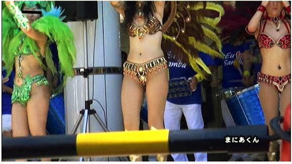 【サンバ+素人+盗撮】まにあくんのプレミアムサンバVOL.1!各地でサンバのきわどいおっぱいや股間を狙い撃ちです。