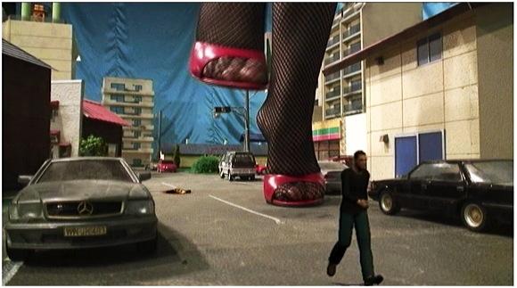 【ギガンテス+高身長+トールウーマン】何と危険な赤い服を着た大きな女!次々と街を破壊します【ジャイアンテス+クラッシュ+フェチ+特撮】GIANTESS IN RED