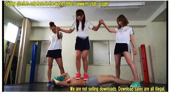 """【M格闘】体操着のセクシー女子高生!金蹴り、踏み、蹴り、パンチ、絞め、ケインで半殺しです『本気で""""男""""ボコします! 268』【CLUB-Q+画像13枚】"""