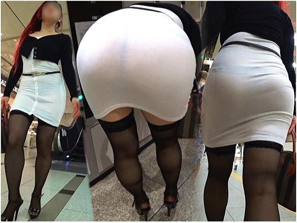 【個人撮影+巨尻+盗撮】ぴったりとした柔らかい素材のミニスカートが大きなお尻に張り付いています。『【フルHD 高画質】デカ尻『S女』のグラマラスBODYがヤバい!!セクシー過ぎてカウパー大放出(苦笑)』【Hip-Zero+Gcolleジーコレ+画像10枚】