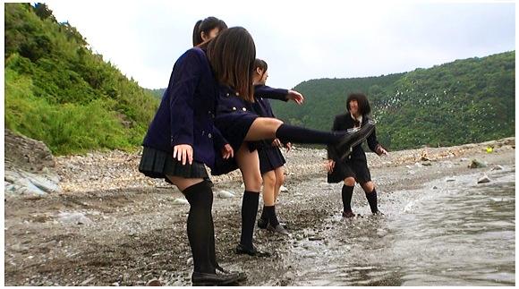 『下校ついでの海水浴』【S&W企画+jk+ロリータ+女子校生】
