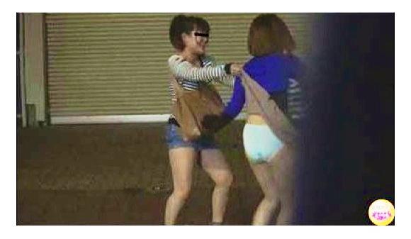 盗撮酔っ払い女の痴態排泄