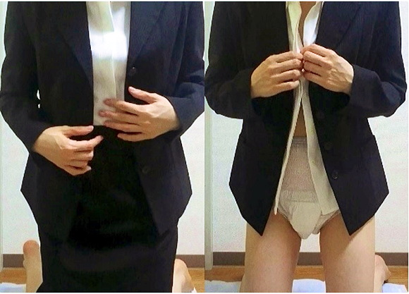 『【お漏らし】【羞恥】OL妻会社でオムツ着用』【TKN+個人撮影+体液マニア+本物体液+素人投稿動画】